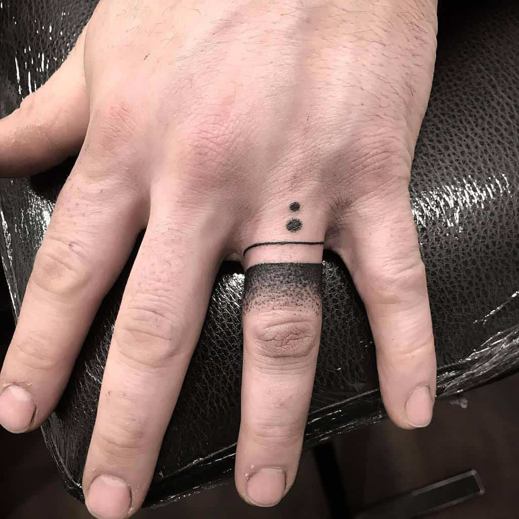 Simple Finger Tattoo for Men tidytattoo