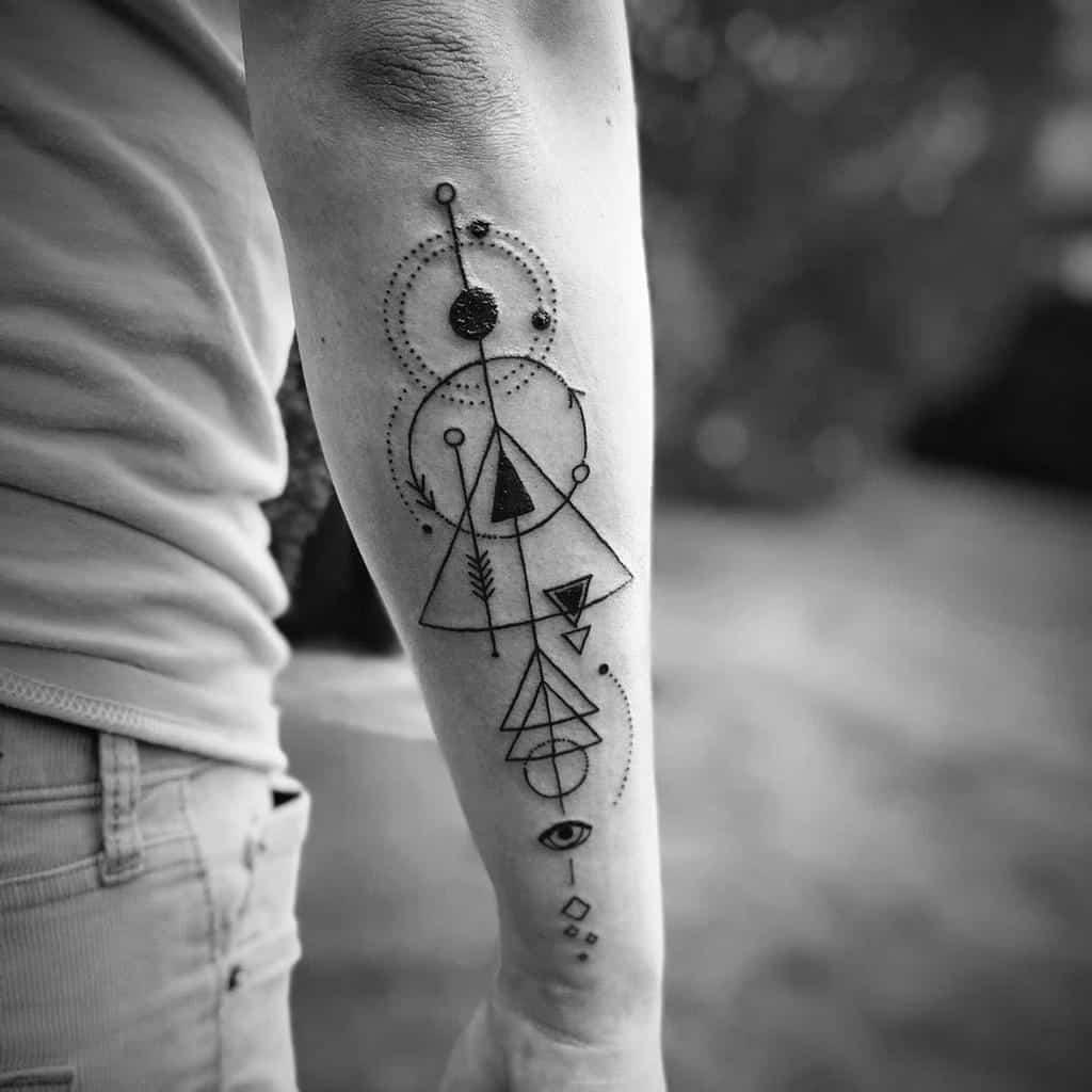 Simple Geometric Tattoo for Men chrisclemencetattoos