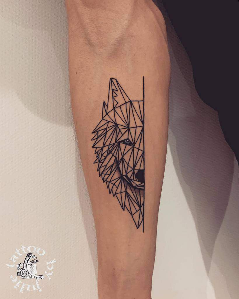 Simple Geometric Tattoo for Men tattoobyjulie