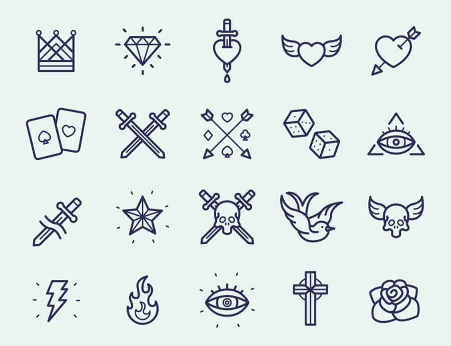 Simple Image Tattoo Flash Sheets