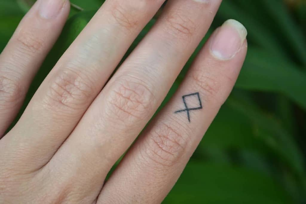 Simple Small Finger Tattoos yugen.tattoo