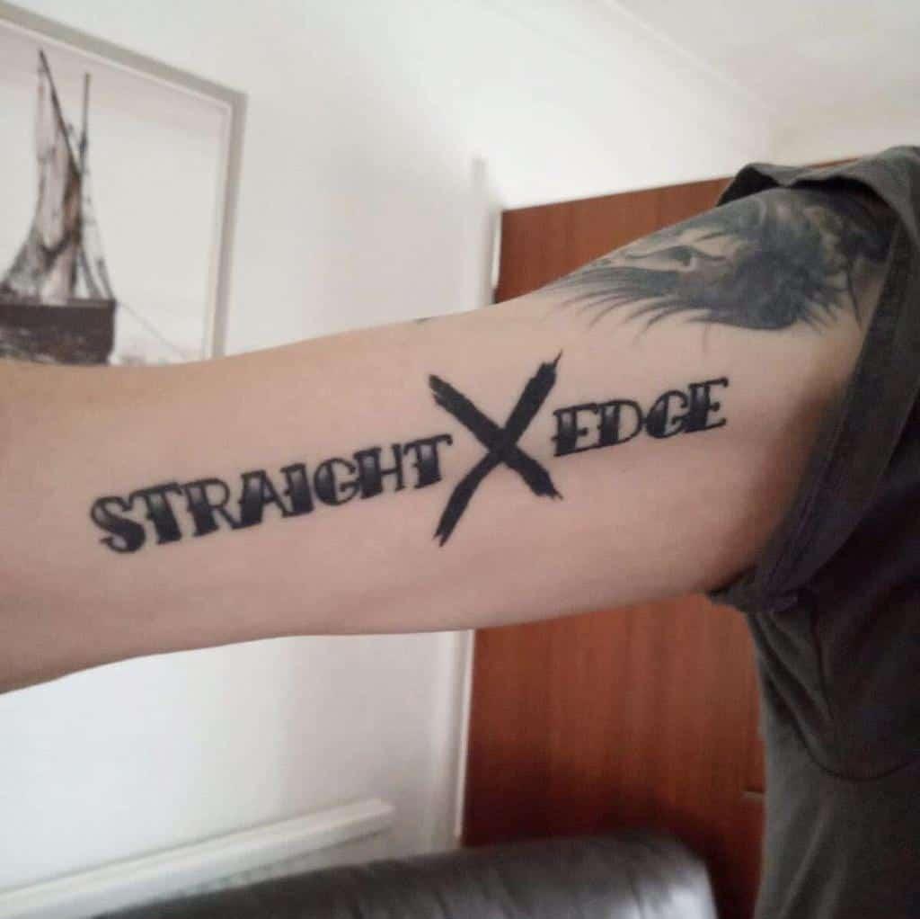 Simple Straight Edge Tattoo Hanram.tattoos