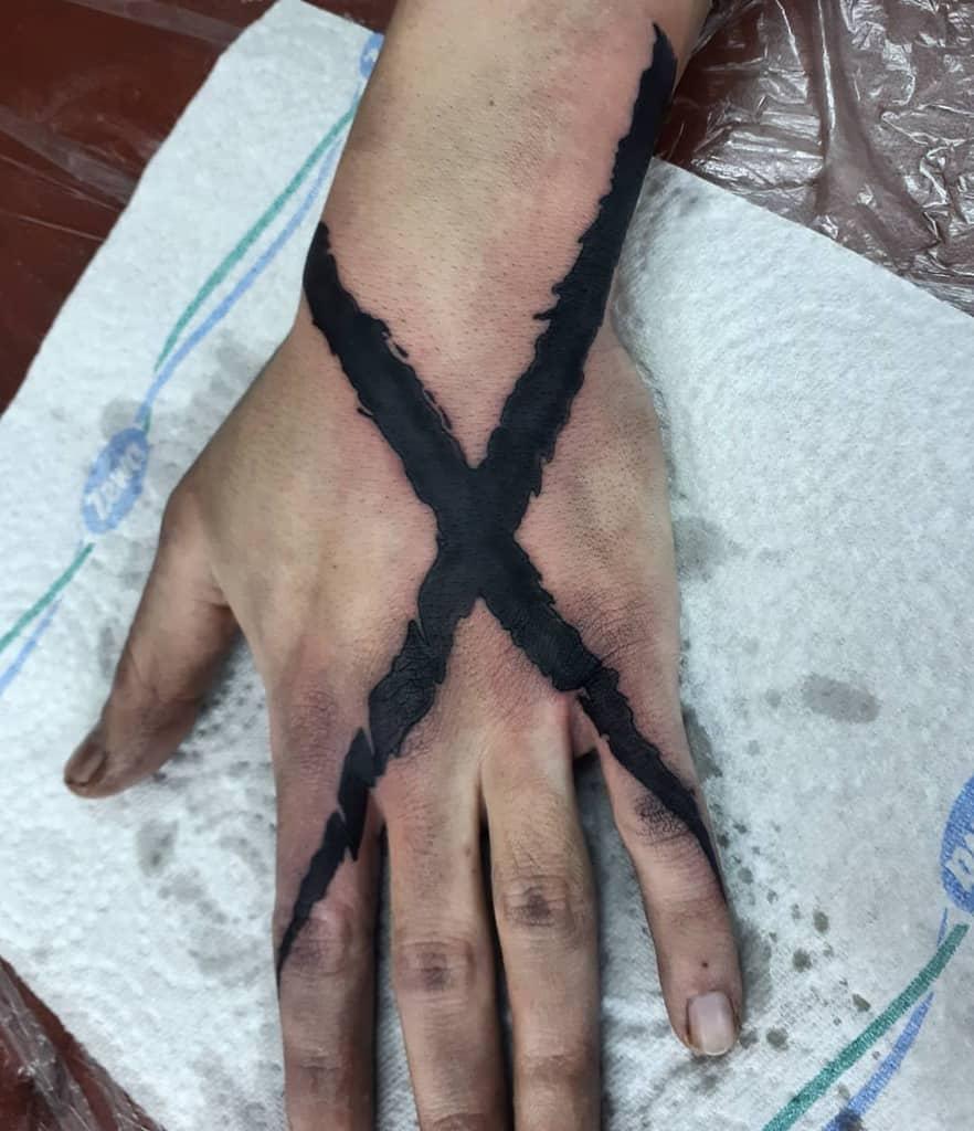 Simple Straight Edge Tattoo Ink Smuggler