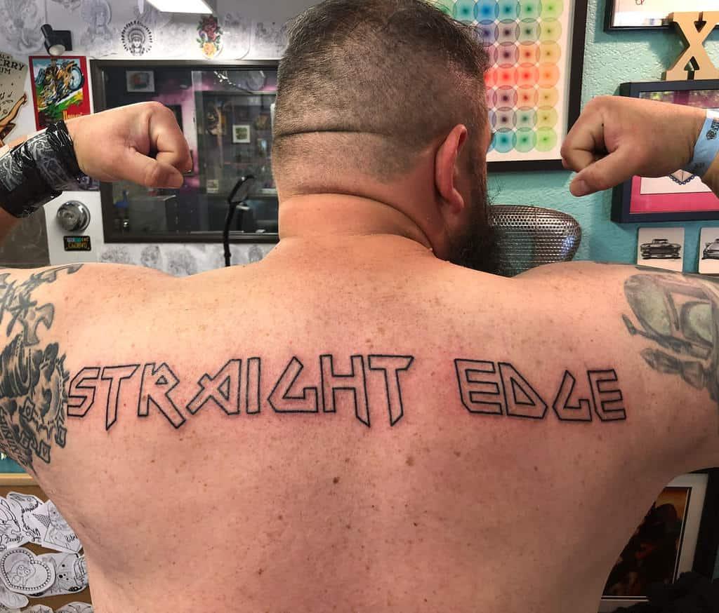 Simple Straight Edge Tattoo Mandypantstattoos