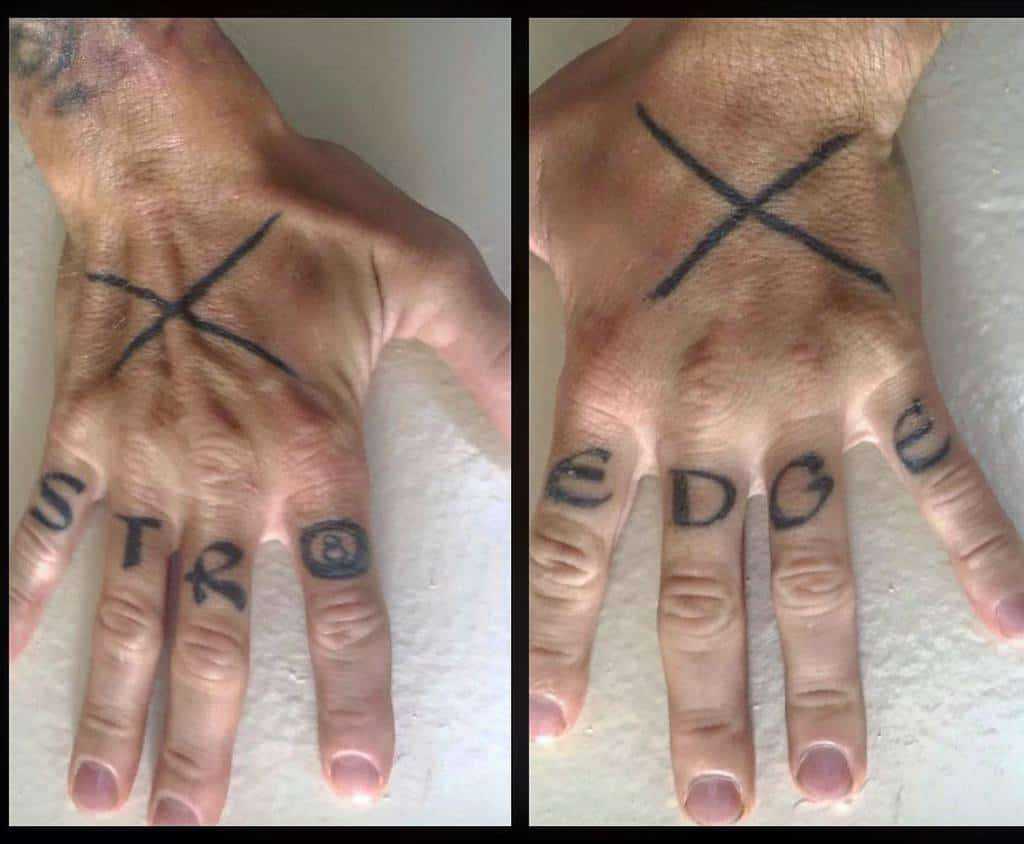 Simple Straight Edge Tattoo Muscless Mcgee