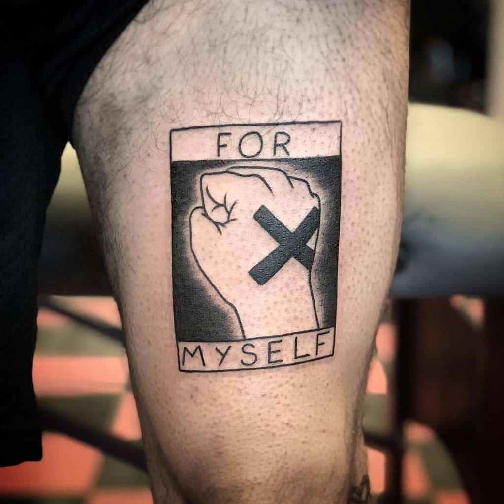 Simple Straight Edge Tattoo Zzeduardozz