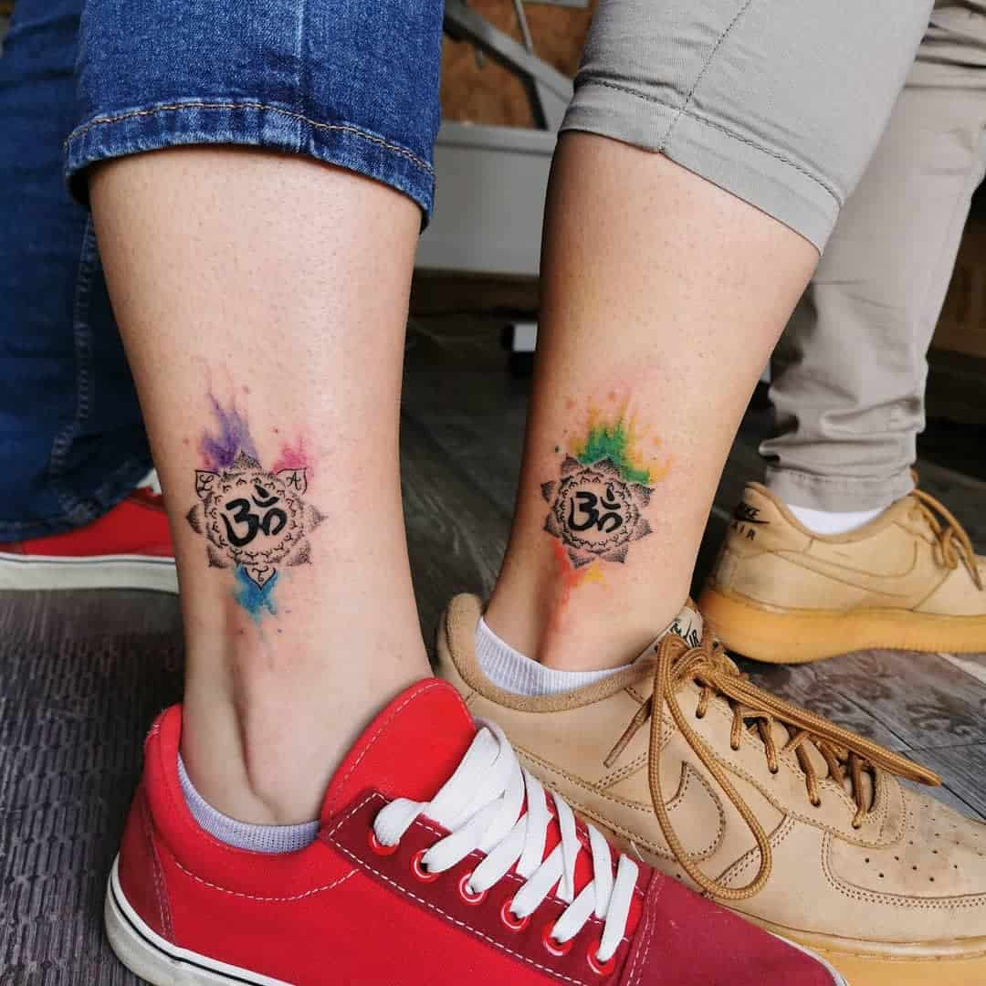 Sister Matching Tattoos colorful_therapy