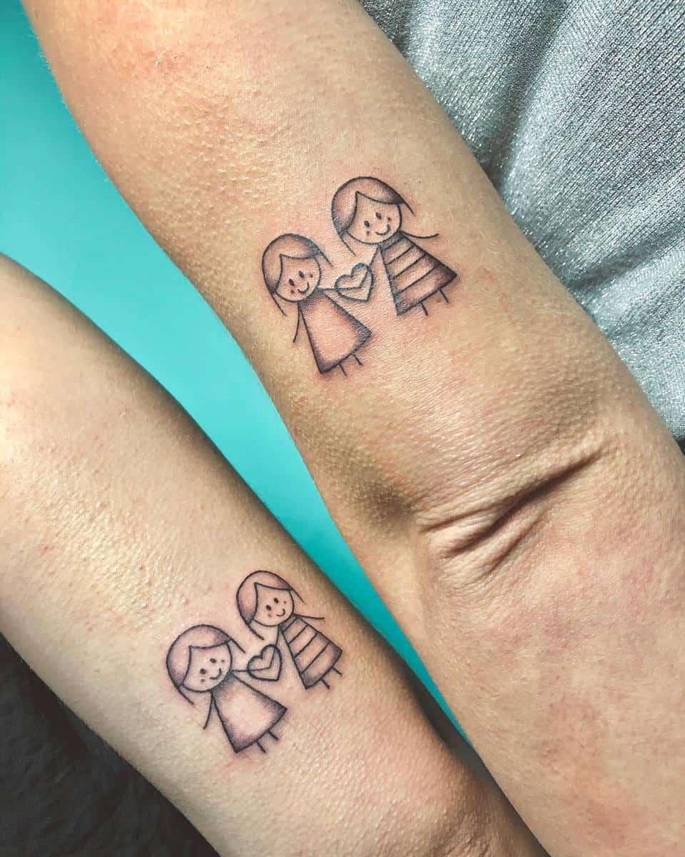 Sister Matching Tattoos vidalocatattoos