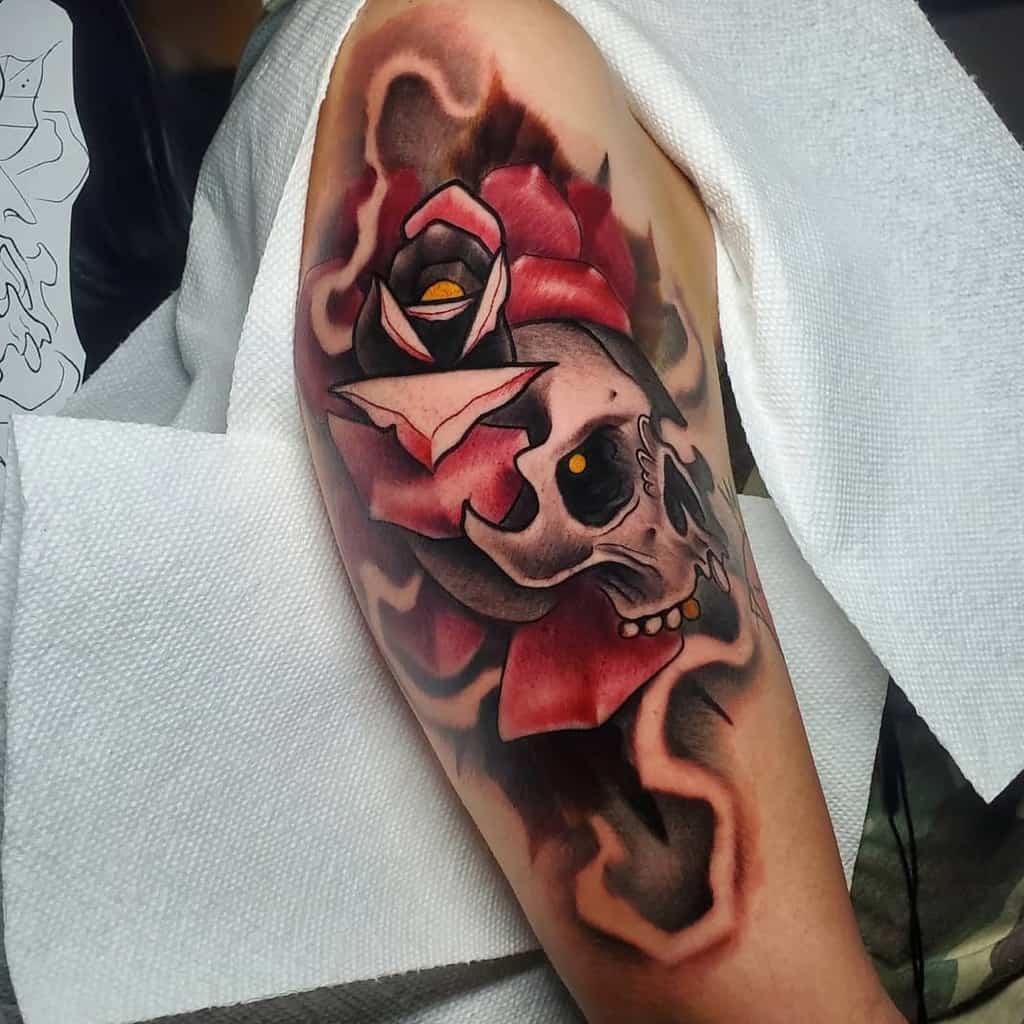 Skull Arm Tattoos for Women bendeadtattoos