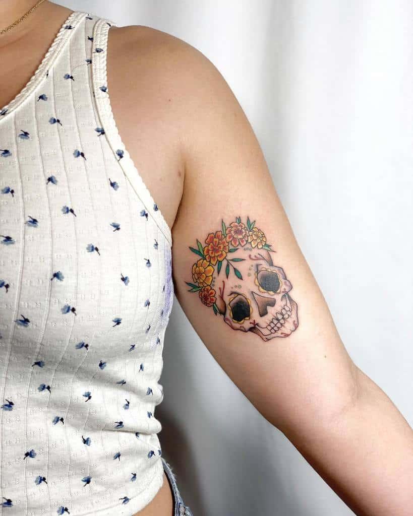 Skull Arm Tattoos for Women relic.tattoos