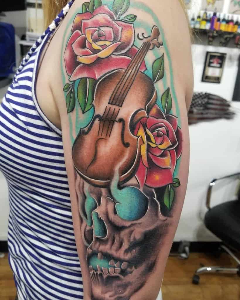Skull Arm Tattoos for Women ta2s_by_rudy