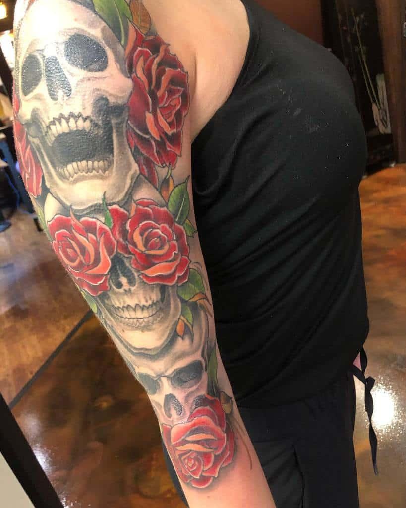 Skull Arm Tattoos for Women tatblaster10000
