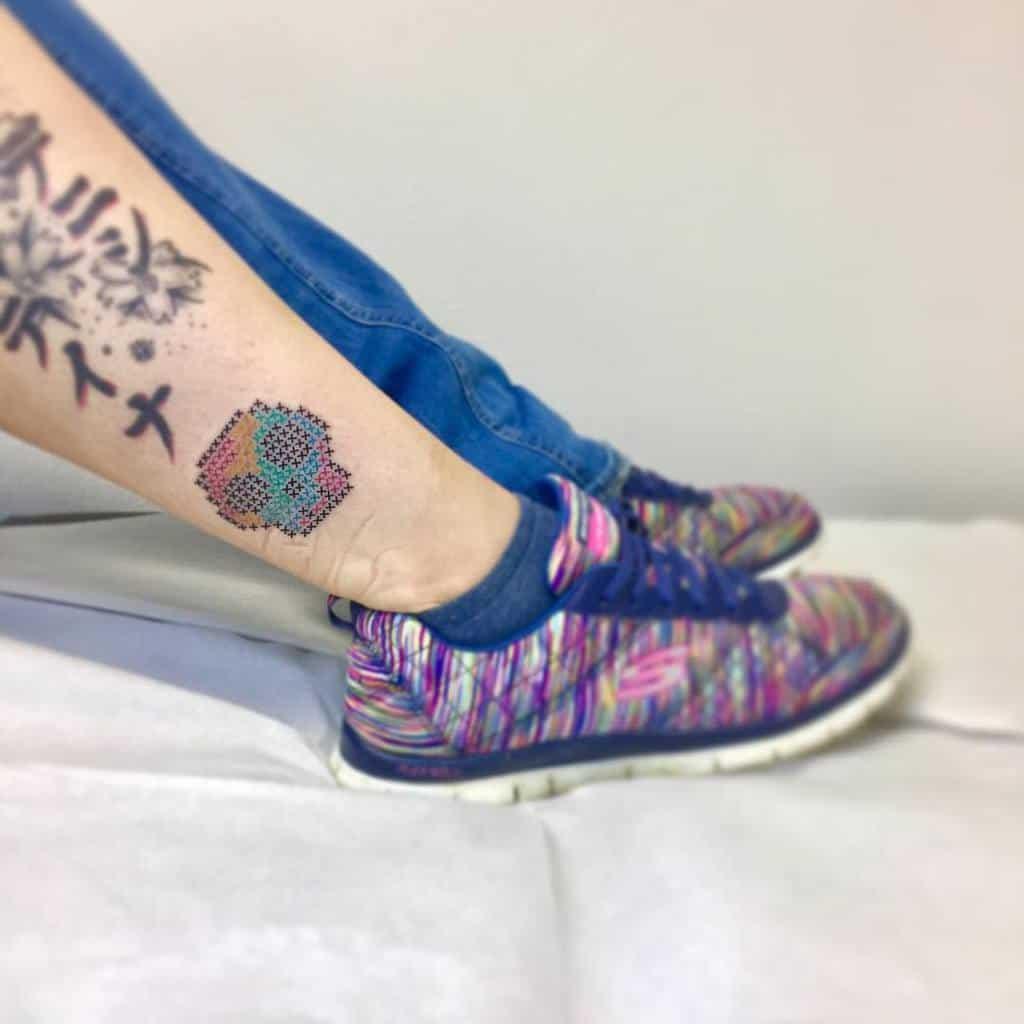 Skull Tattoo Cross Stitch Sonia Tessari