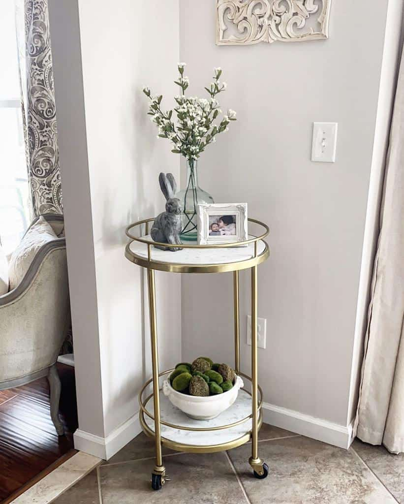 Small Bar Cart Ideas -chalkpaintandpearls
