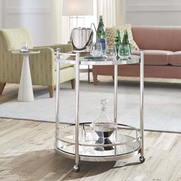 Small Bar Cart Ideas -onceatreefurniture