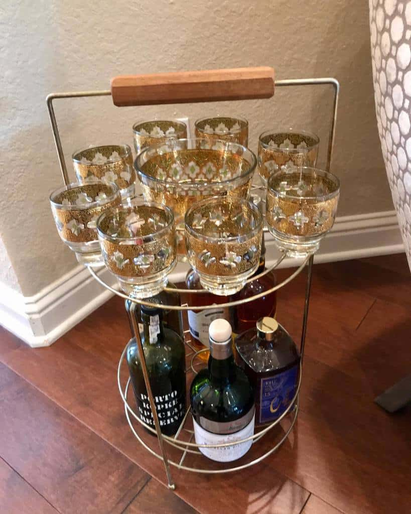 Small Bar Cart Ideas -vintagedesignerbarware