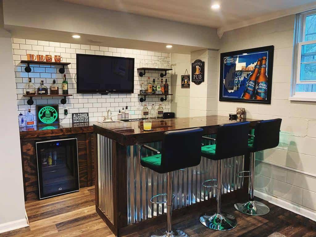 Small Basement Bar Ideas abby_coyne
