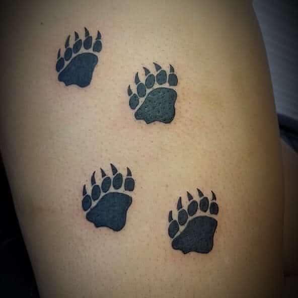 Small Bear Paw Tattoo bigpinkink98855