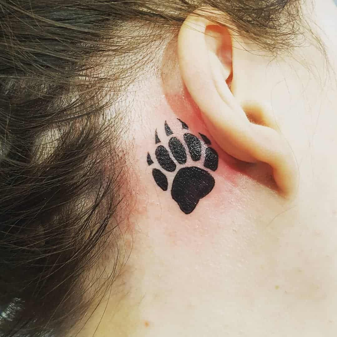 Small Bear Paw Tattoo courting_chaos