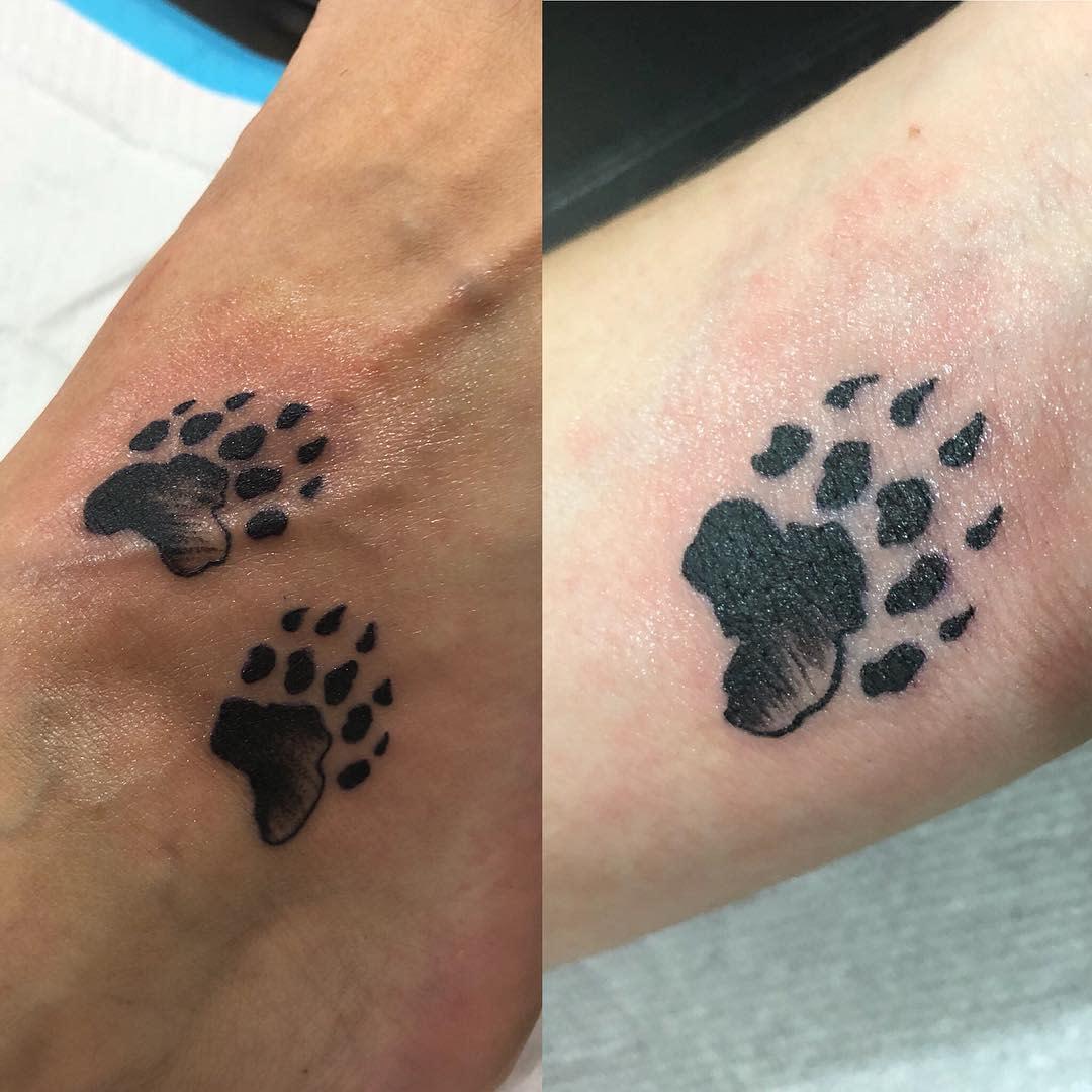 Small Bear Paw Tattoo jesscoveritup