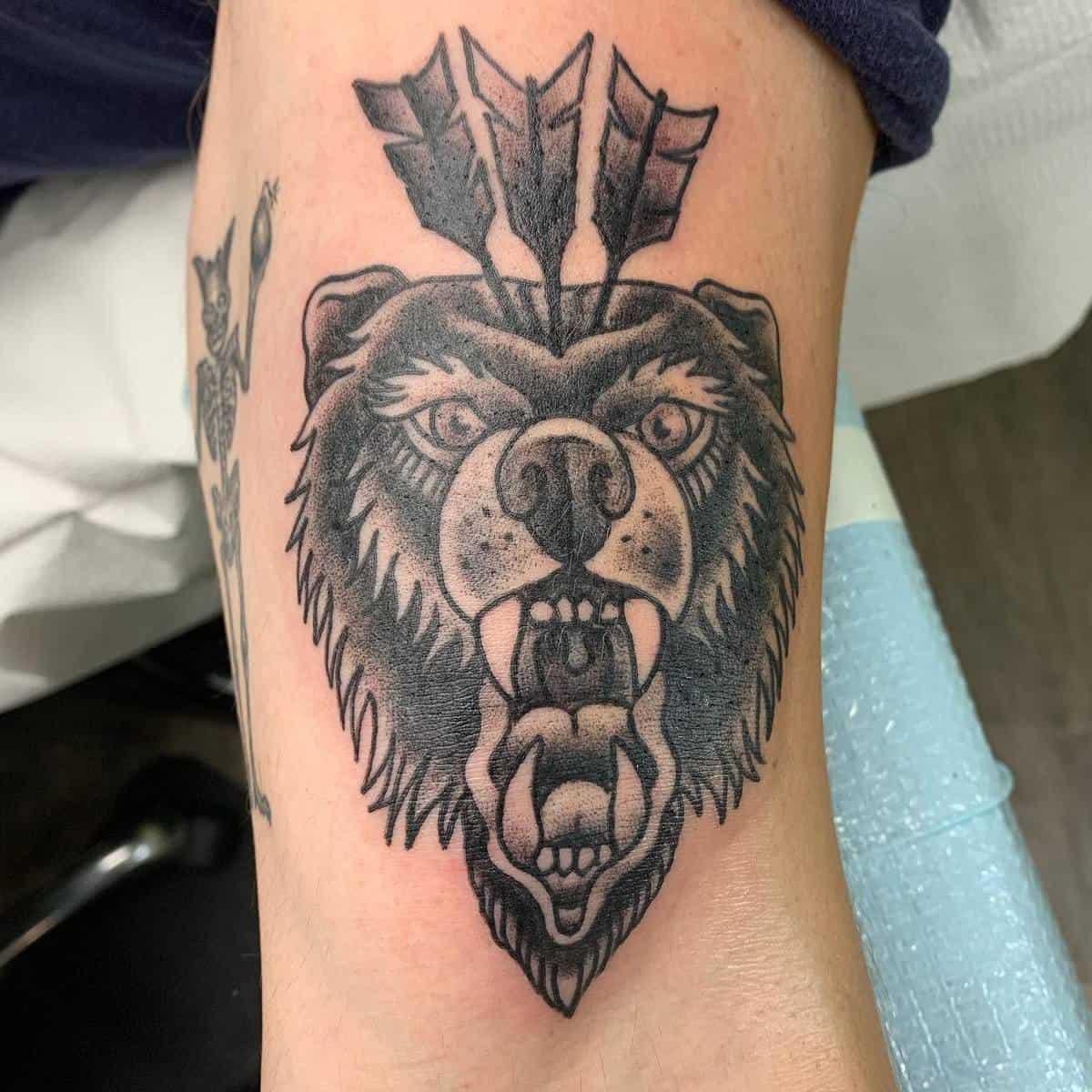 Small Black Bear Tattoo jenbtattoos