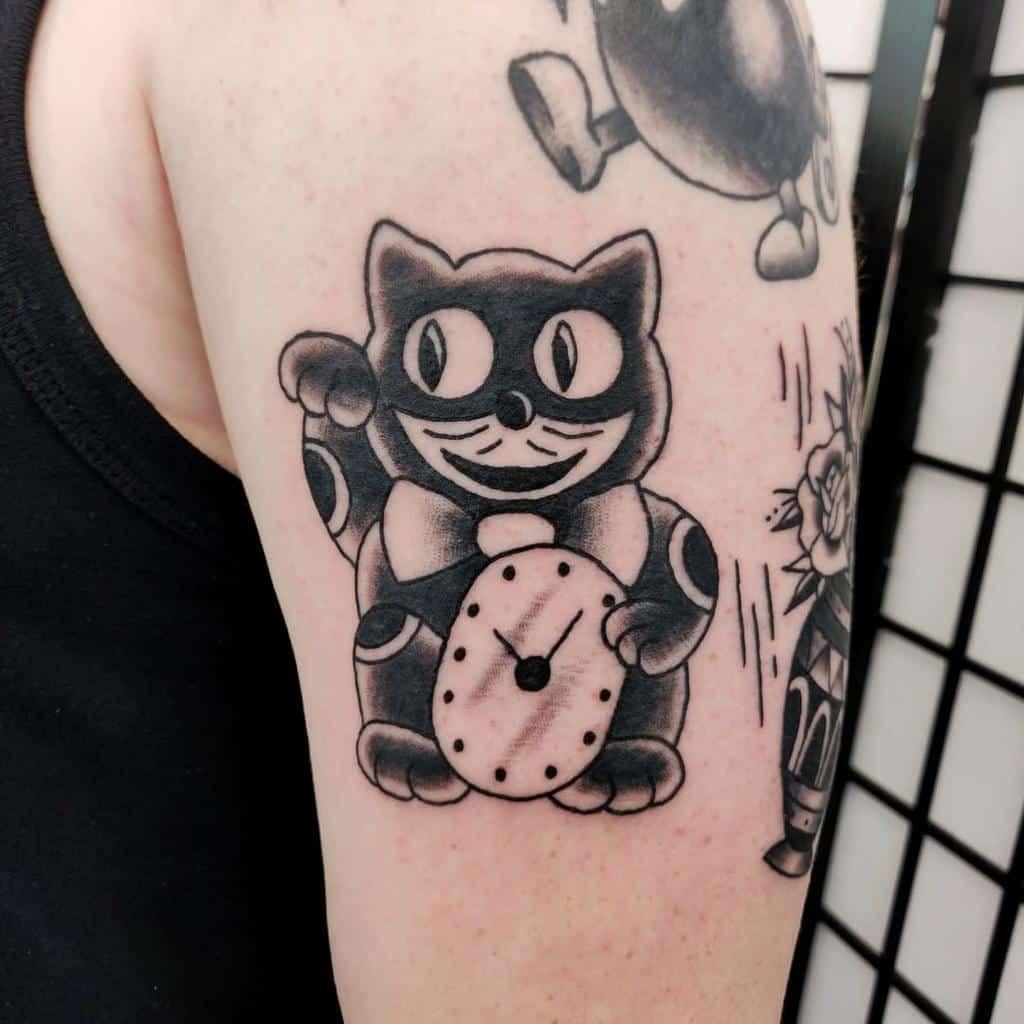 Small Black Cat Tattoos bluthtattoo