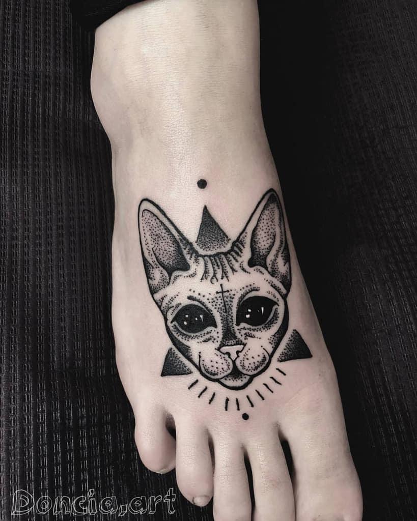 Small Black Cat Tattoos dontchatattoo