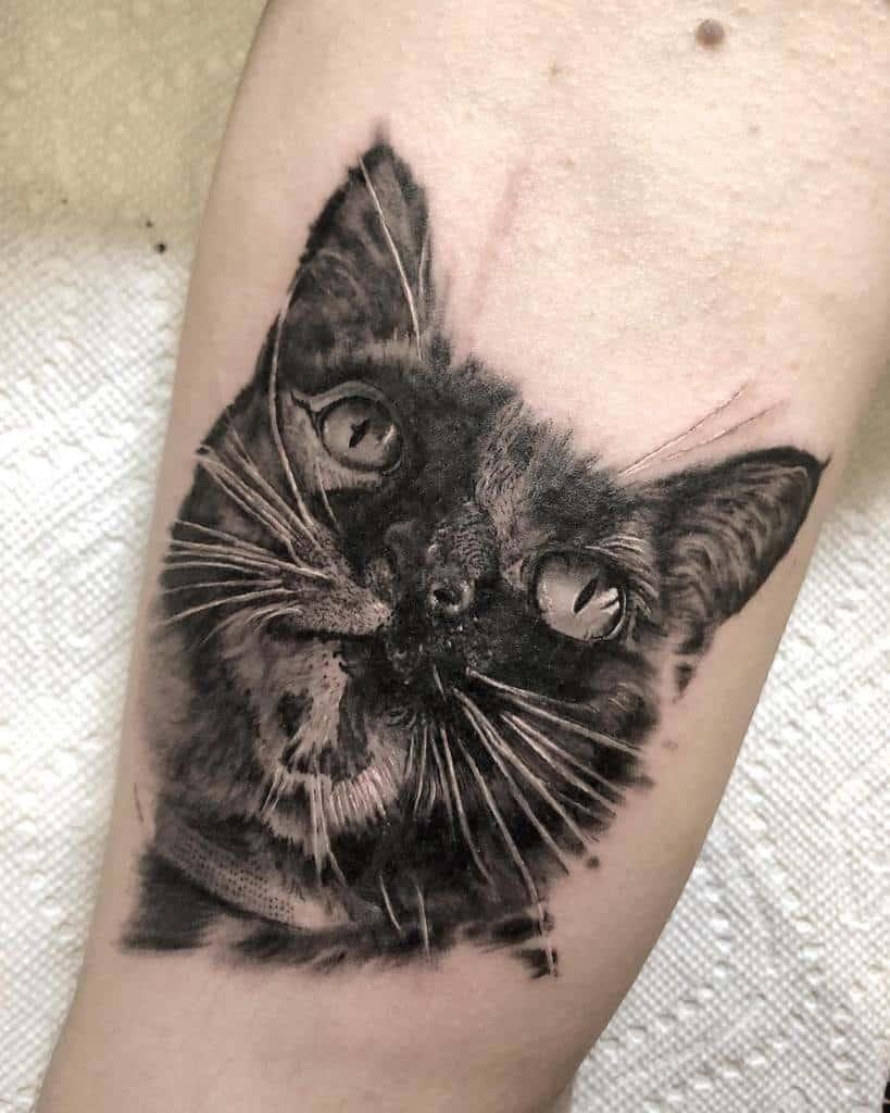 Small Black Cat Tattoos martinkellytattoo
