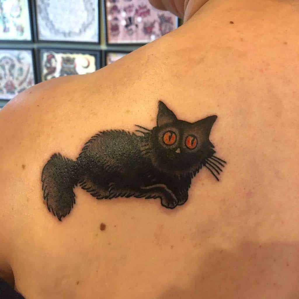 Small Black Cat Tattoos teddie_upchucks