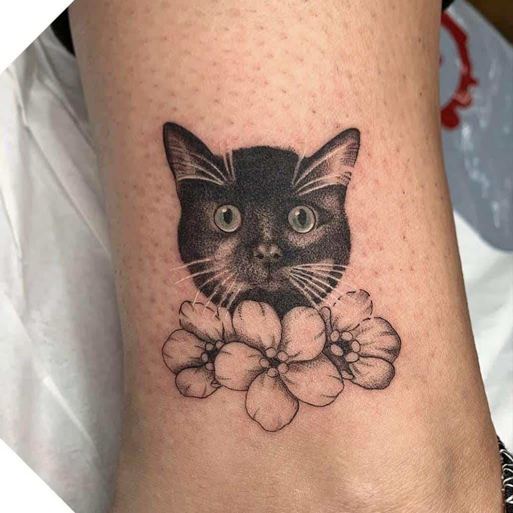 Small Black Cat Tattoos the.studio.tattoo