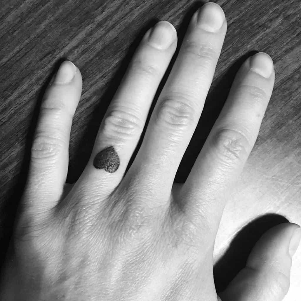 Small Black Heart Tattoos Entangledheart