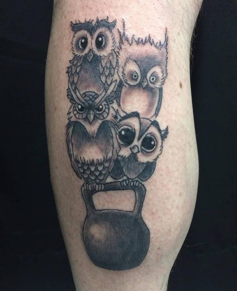 Small Black Owl Tattoos feketetattoo