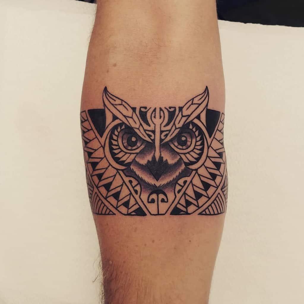 Small Black Owl Tattoos mr.jones.tattoo