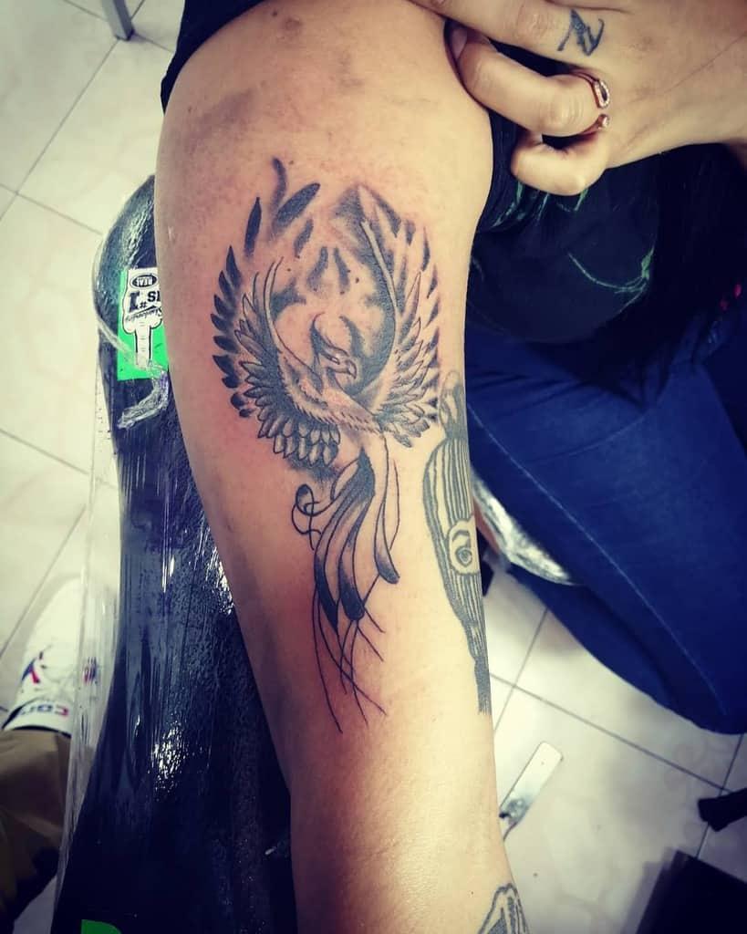 Small Black Phoenix Tattoos enrique_inkpot
