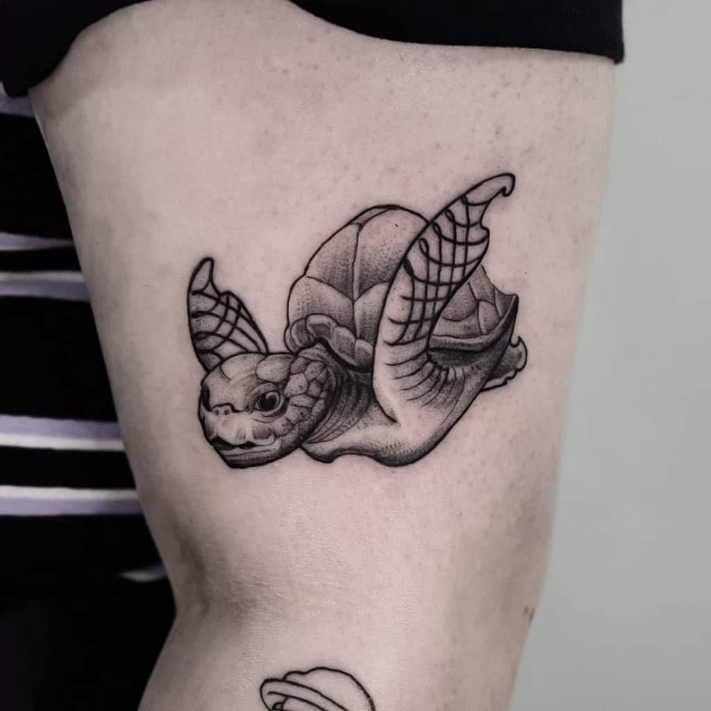 Small Black Turtle Tattoos den_haag_tattoo_the_goose