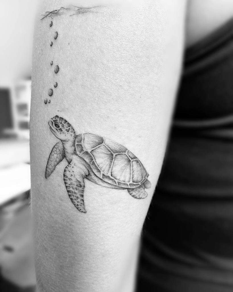 Small Black Turtle Tattoos stbarthink