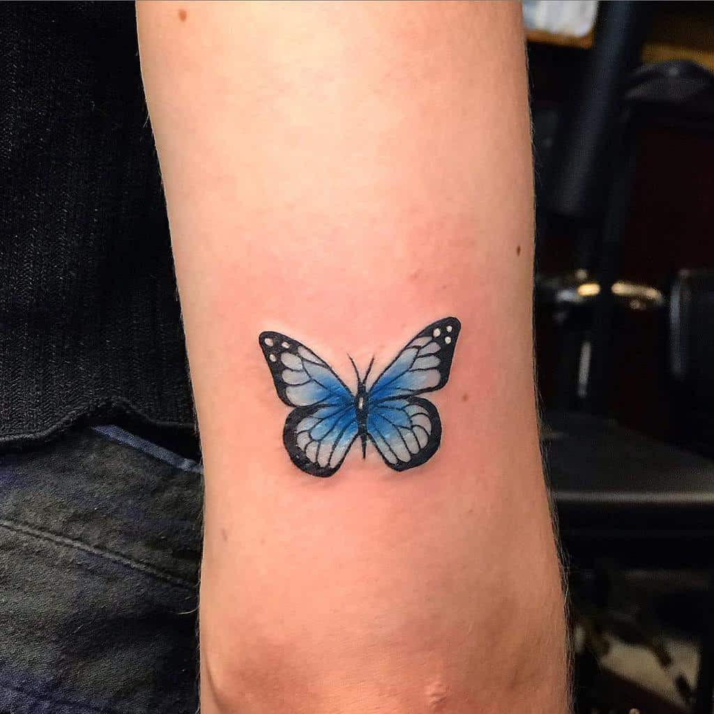 Small Blue Butterfly Tattoos jayden_bjd