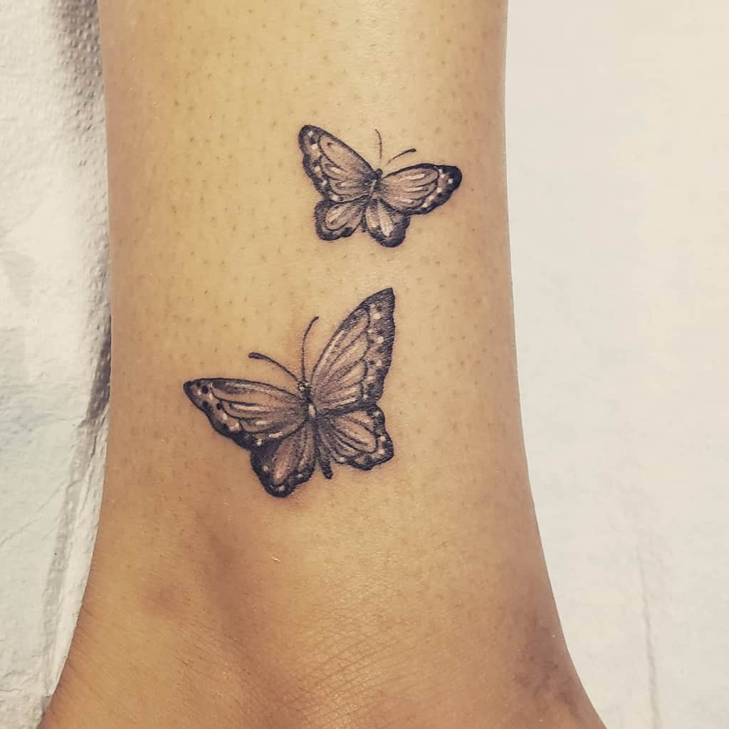Small Butterfly Ankle Tattoos Kandilandtattooing