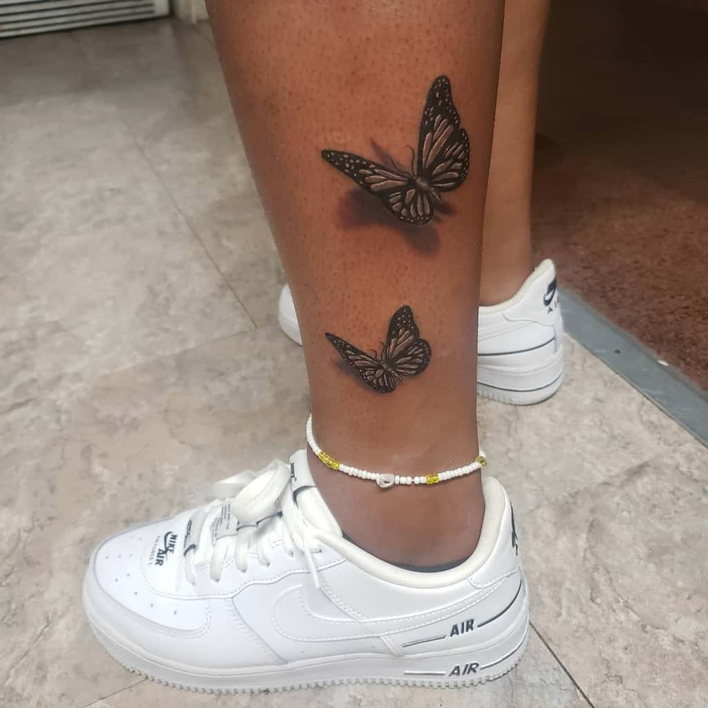 Small Butterfly Ankle Tattoos Moe.tattoos