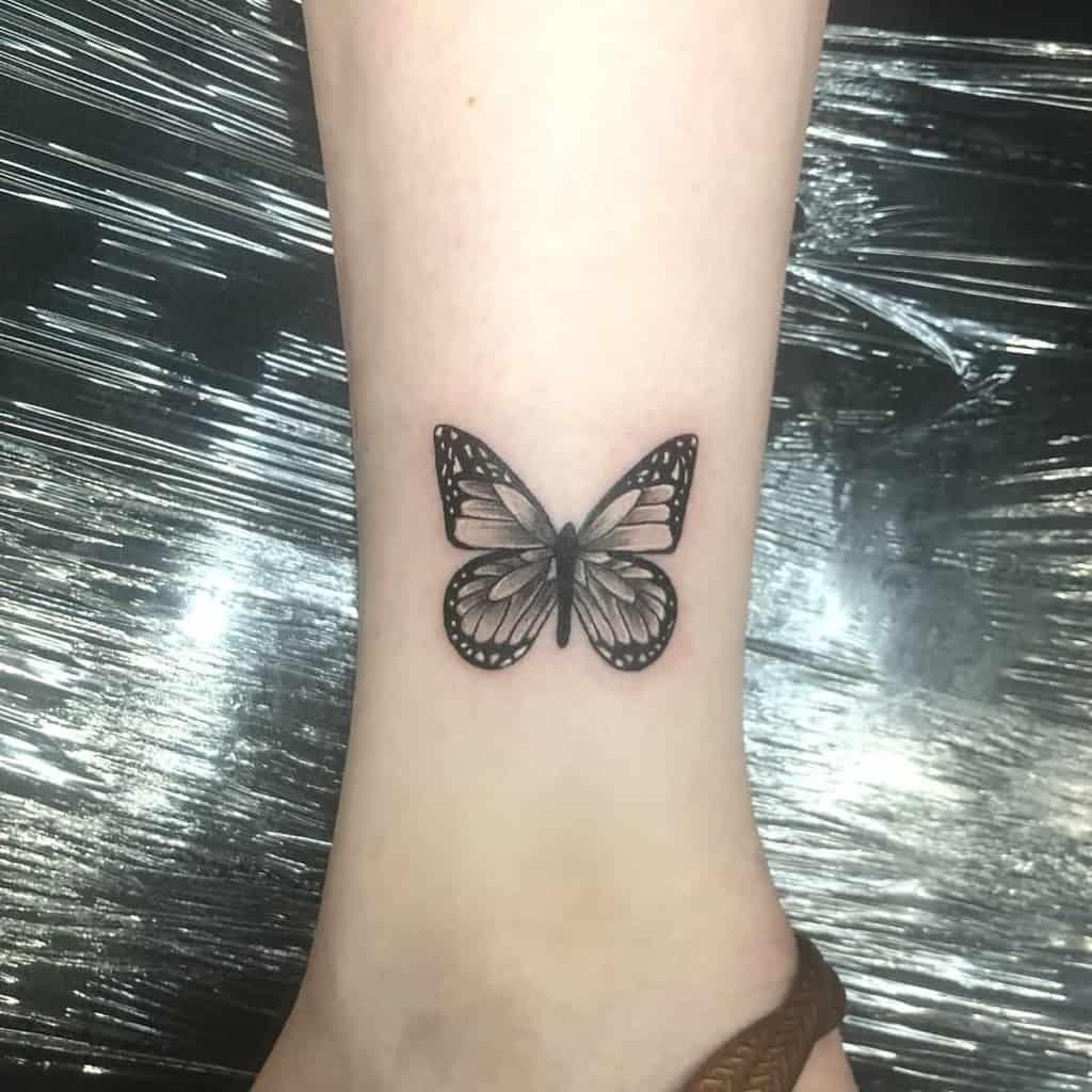 Small Butterfly Ankle Tattoos Robertoguerreroart