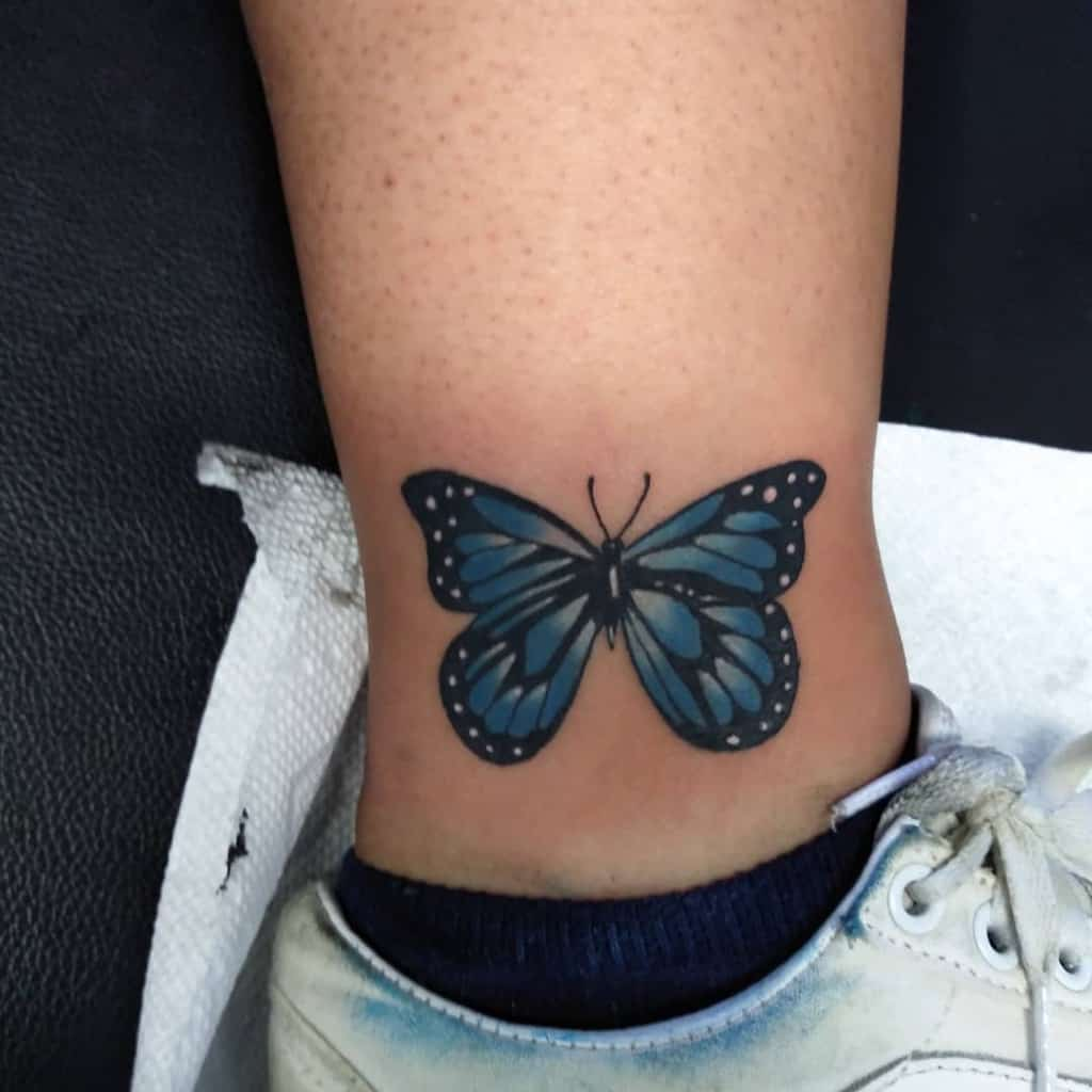 Small Butterfly Ankle Tattoos Rudy Tattoos