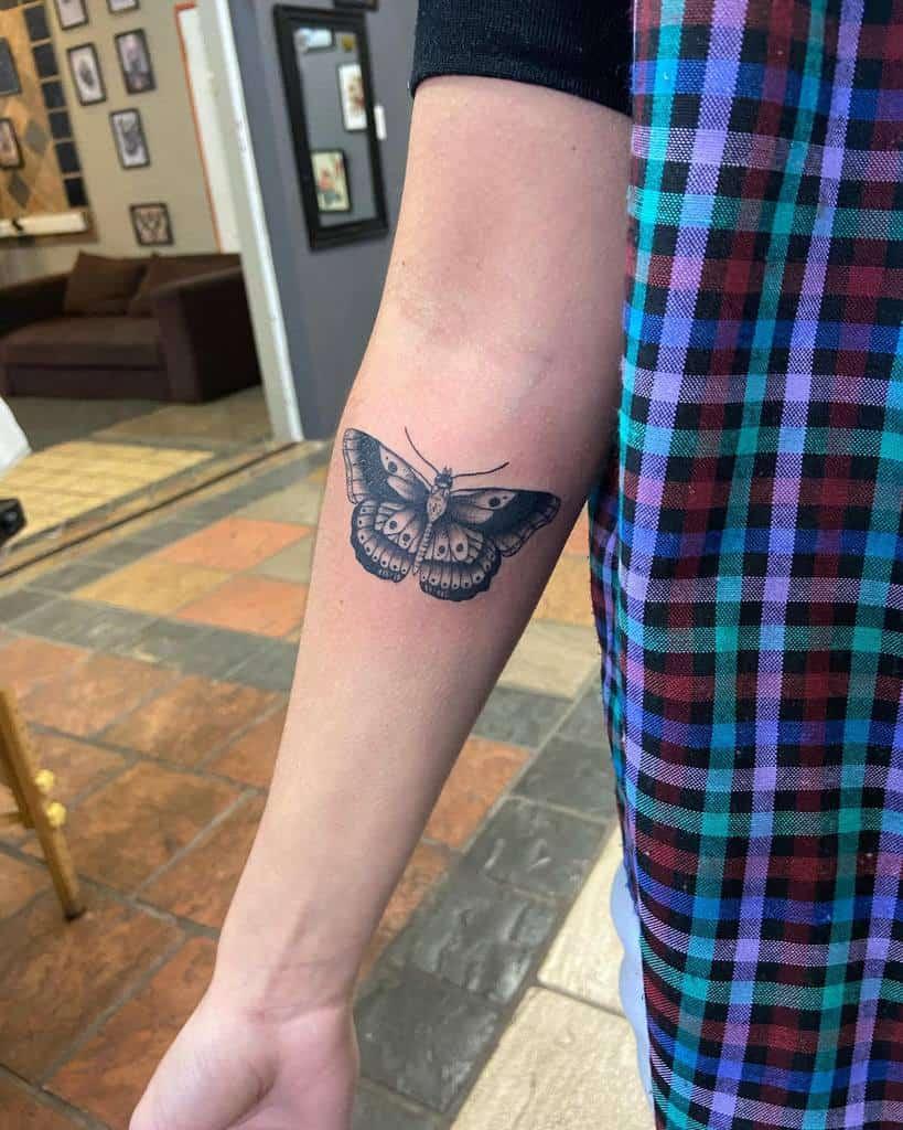 Small Butterfly Forearm Tattoos Artbyaimeebroadfield