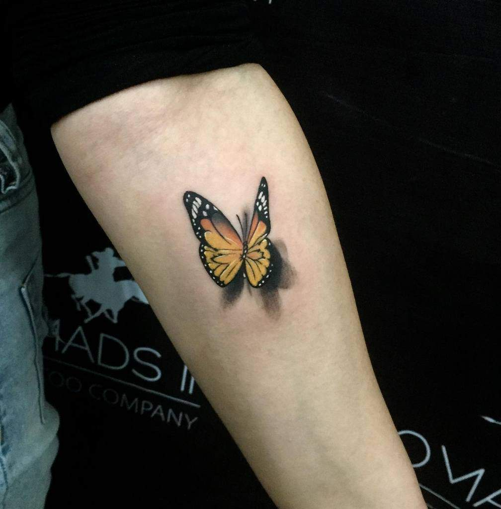 Small Butterfly Forearm Tattoos Boldtgym