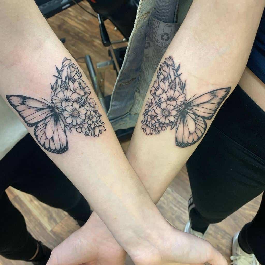 Small Butterfly Forearm Tattoos Inkbykg