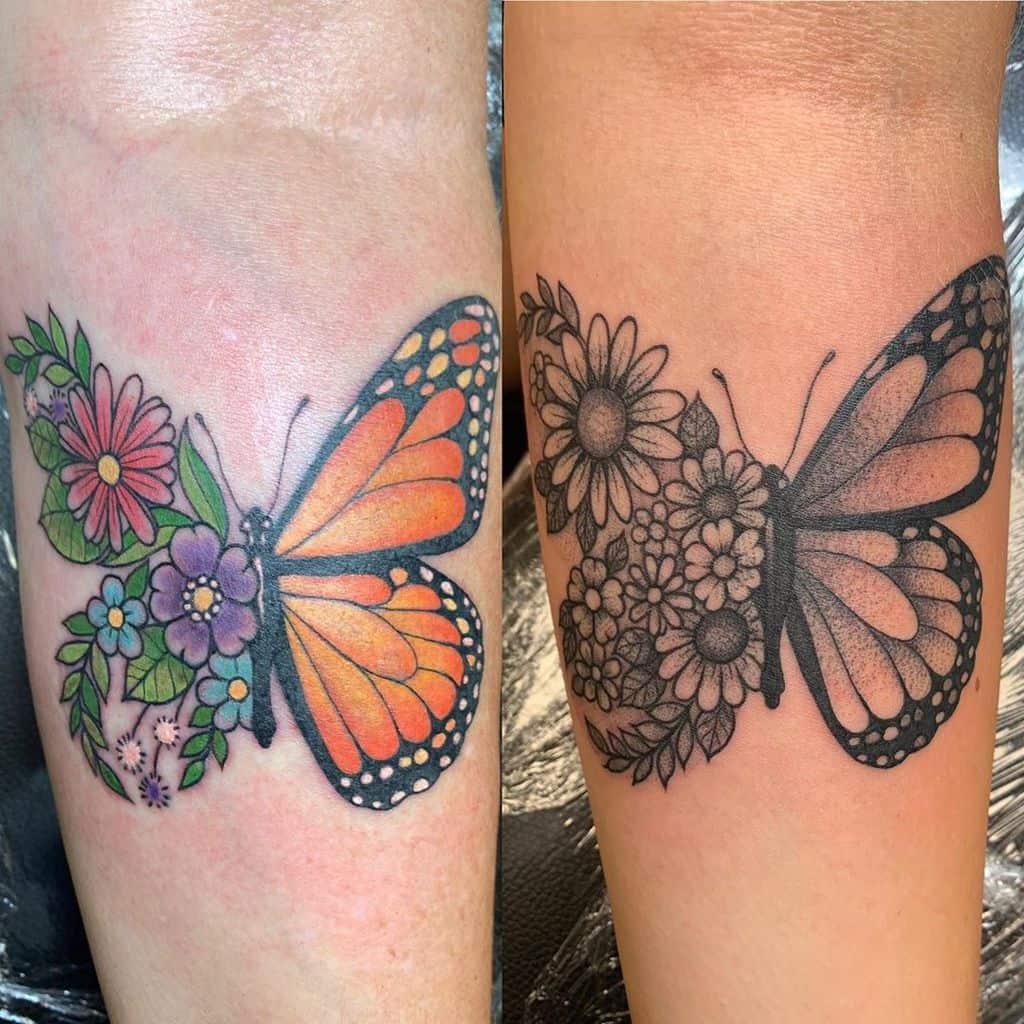 Small Butterfly Forearm Tattoos Inkinasterisk