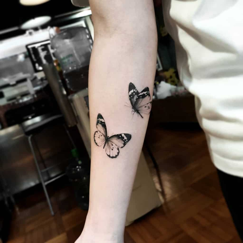 Small Butterfly Forearm Tattoos Tattoootrd
