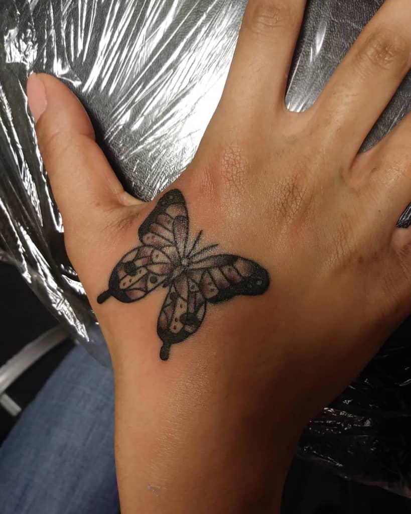 Small Butterfly Hand Finger Tattoos Arivera.tbp