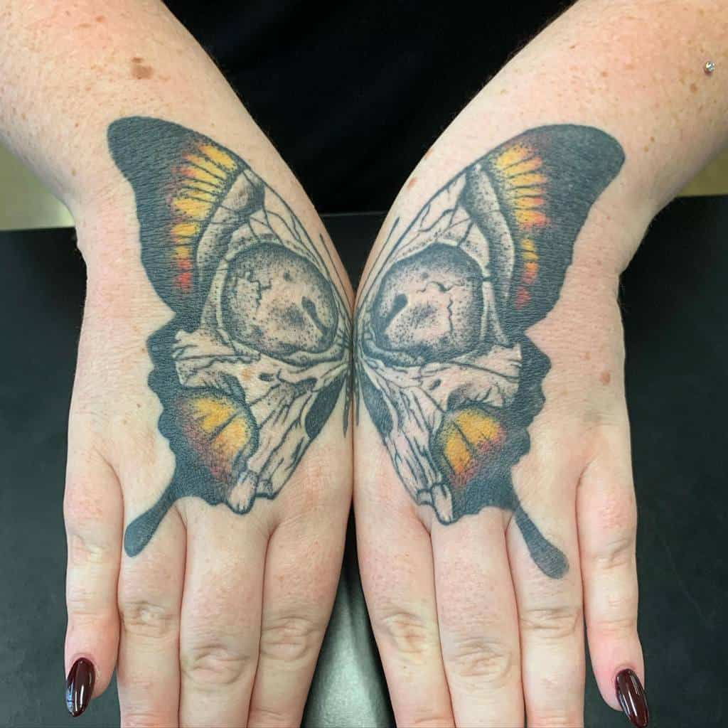 Small Butterfly Hand Finger Tattoos Inkslingervinnie