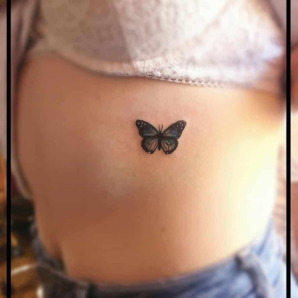 Small Butterfly Rib Tattoos Cheyannerussell96