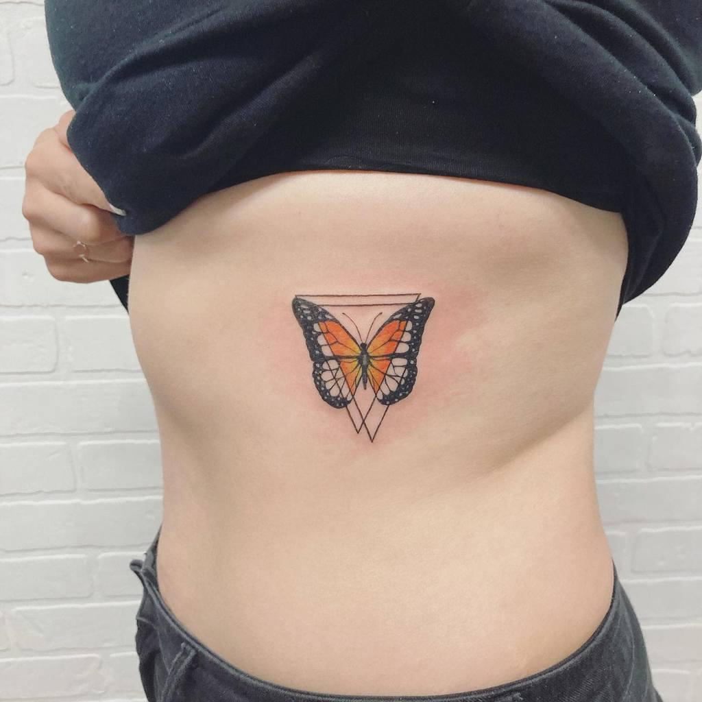 Small Butterfly Rib Tattoos Jessirichtattoos